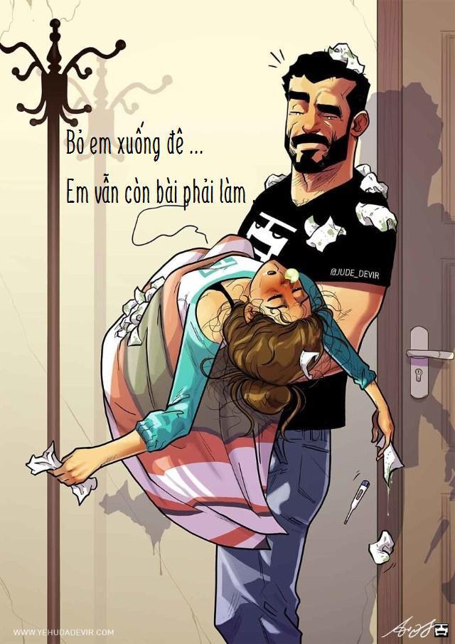 Những tình huống hài khó đỡ mà cặp đôi nào cũng gặp phải qua nét vẽ của hoạ sĩ Israel-7