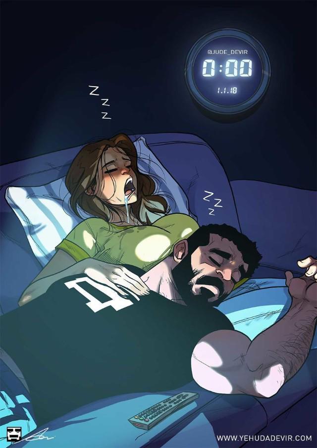 Những tình huống hài khó đỡ mà cặp đôi nào cũng gặp phải qua nét vẽ của hoạ sĩ Israel-8