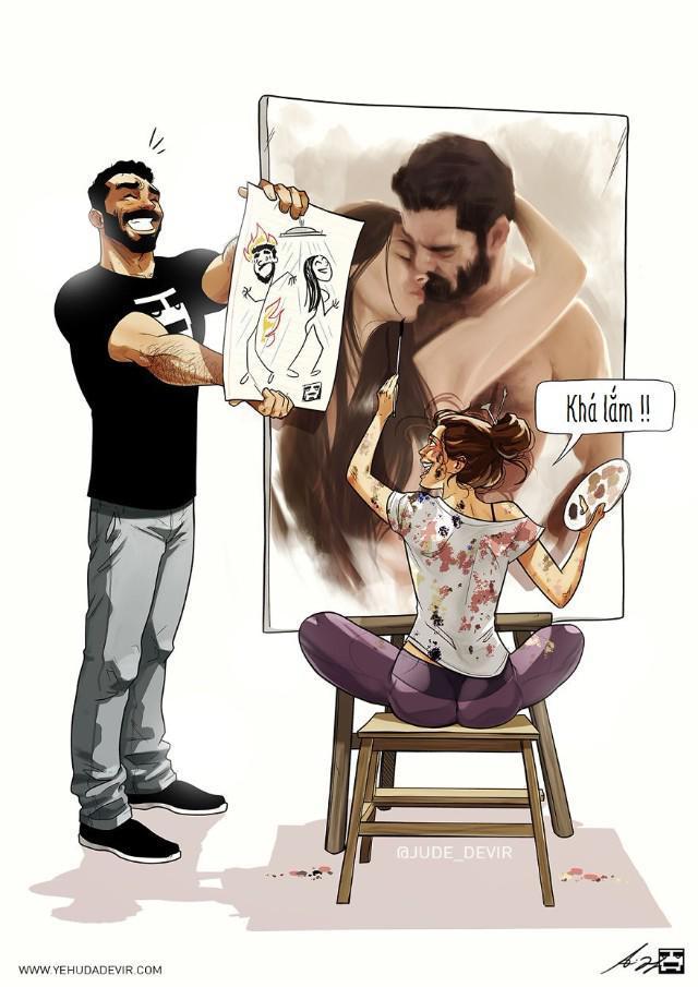 Những tình huống hài khó đỡ mà cặp đôi nào cũng gặp phải qua nét vẽ của hoạ sĩ Israel-12