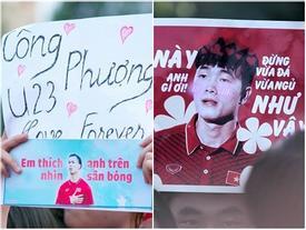 Người hâm mộ phủ kín banner siêu dễ thương chào đón U23 Việt Nam tại TP HCM
