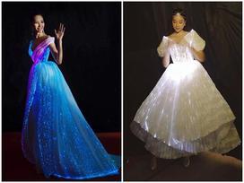 Chẳng hẹn mà gặp, Hoàng Thùy - Phạm Hương đụng ý tưởng váy phát sáng