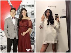 Sau hơn 1 tháng kết hôn, Chúng Huyền Thanh đã diện váy lộ bụng to bất ngờ