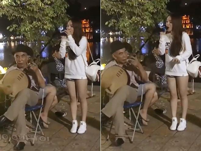 Ngẫu hứng cất tiếng hát ở Hồ Gươm, cô gái bất ngờ nổi tiếng-1