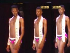 Không chỉ sở hữu body mỏng như lá, thí sinh Nam vương còn gây choáng vì catwalk dẻo hơn Hoa hậu Hoàn vũ