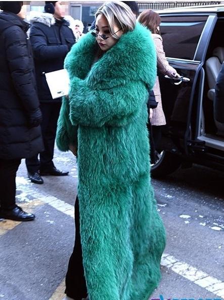 Diện áo lông to sụ như nhân vật hoạt hình Monsters, CL chiếm sóng thời trang sao Hàn tuần qua-3