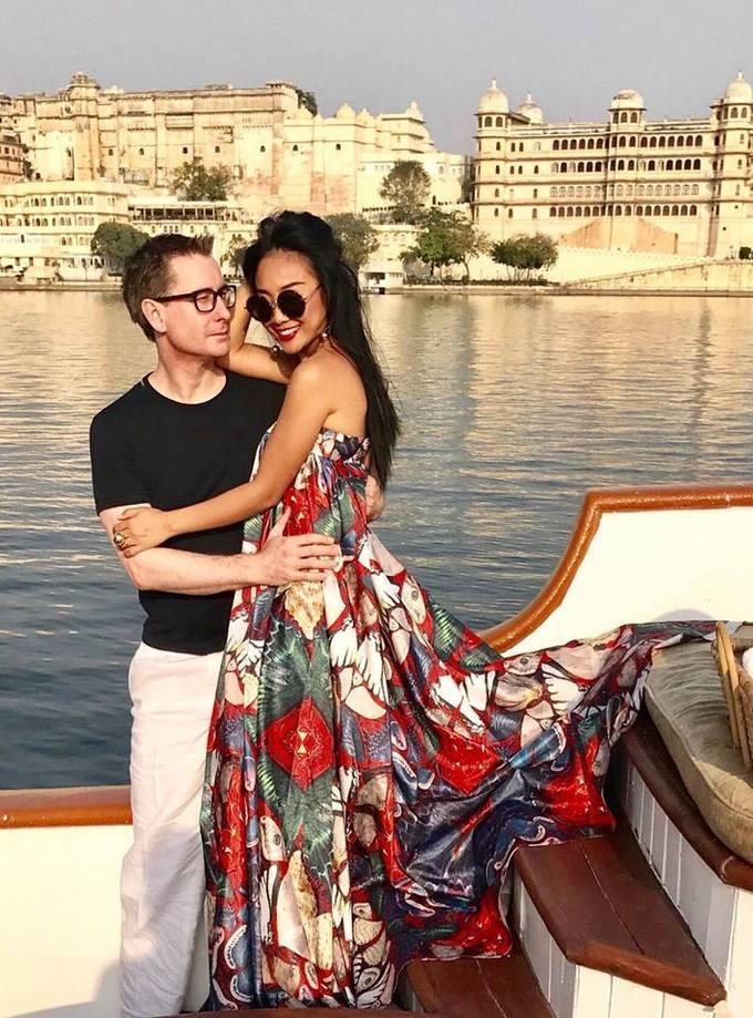 Kỳ nghỉ của vợ chồng Đoan Trang ở Ấn Độ trước Tết-1