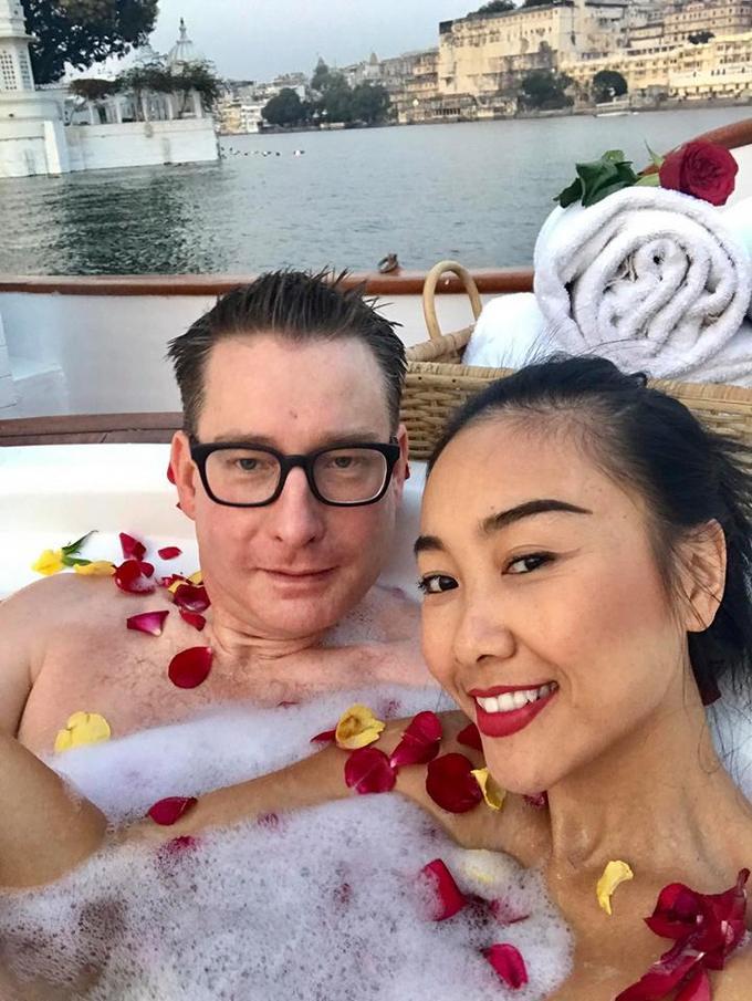 Kỳ nghỉ của vợ chồng Đoan Trang ở Ấn Độ trước Tết-6