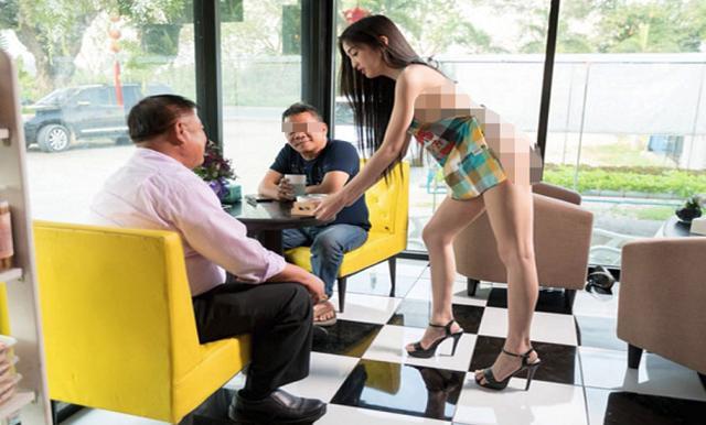 Nhà hàng lẩu thuê nữ phục vụ mặc bikini, nam nhân viên cởi trần tiếp khách-2