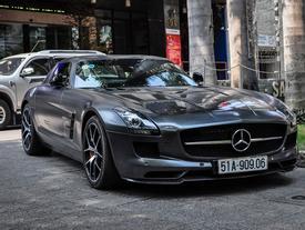 Mercedes SLS AMG GT nhà chồng Tăng Thanh Hà tái xuất trên phố