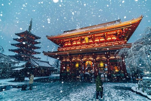 Tokyo đẹp nghẹt thở trong màn tuyết giá buốt-1