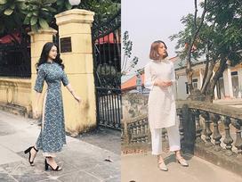 Bộ đôi 'hotgirl thị phi' Linh Ka - Trương Hoàng Mai Anh khoe dáng cùng áo dài đón Tết