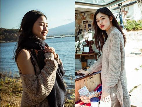 Ngắm mùa xuân Nhật Bản qua loạt ảnh đẹp long lanh của Á hậu tuổi Tuất Thanh Tú