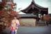 Điểm dừng chân của Thanh Tú là cố đô Kyoto. Không khí cổ xưa trầm mặc nơi đây khiến cô muốn thử trải nghiệm mặc kimono một lần.