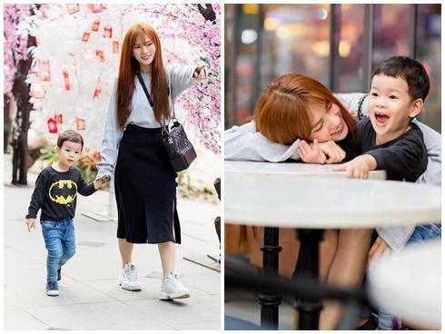 Dạo phố đầu xuân cùng con trai, single mom Thu Thủy đã buông bỏ hoàn toàn bi lụy