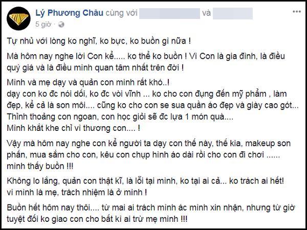 Lý Phương Châu bàng hoàng ám chỉ con gái ruột được Linh Chi dạy trang điểm dù bé mới lên 6-1