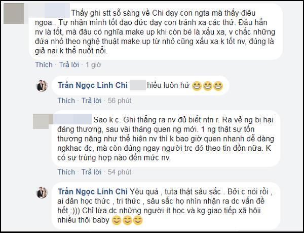 Lý Phương Châu bàng hoàng ám chỉ con gái ruột được Linh Chi dạy trang điểm dù bé mới lên 6-4