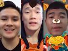 Thích thú với clip chúc Tết dùng app biến hình của U23 Việt Nam Tiến Dũng, Quang Hải và Đức Chinh