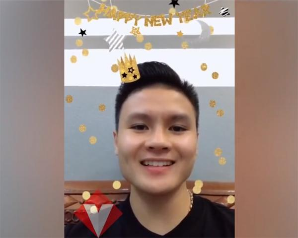 Thích thú với clip chúc Tết dùng app biến hình của U23 Việt Nam Tiến Dũng, Quang Hải và Đức Chinh-2