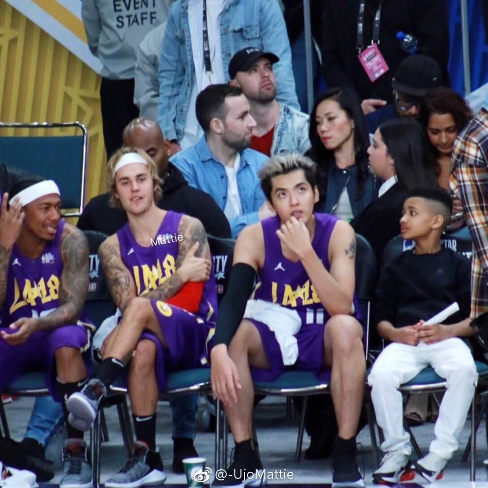 Justin Bieber và Đường Tăng Ngô Diệc Phàm thi đấu bóng rổ ở Mỹ-2