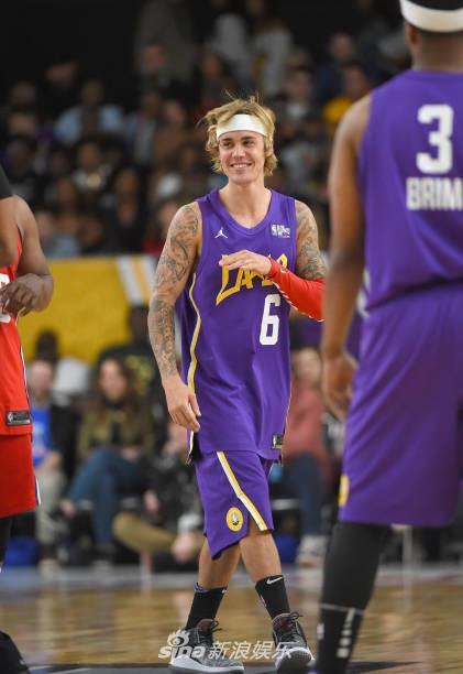 Justin Bieber và Đường Tăng Ngô Diệc Phàm thi đấu bóng rổ ở Mỹ-5