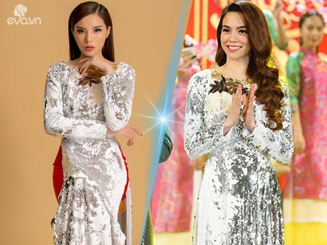 Mới đầu năm Hồ Ngọc Hà đã đụng hàng áo dài với Hoa hậu Kỳ Duyên-2