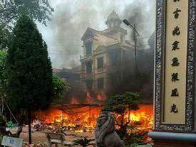 Cháy dữ dội ở đền Mẫu Đồng Đăng ngày mùng 5 Tết