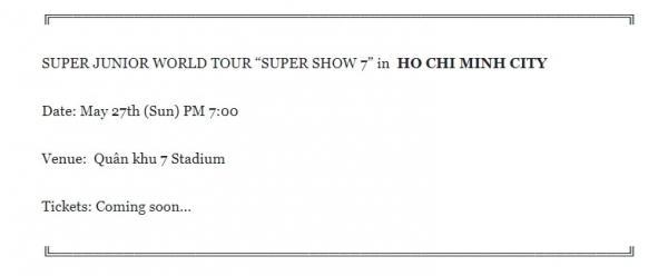 Xôn xao tin world tour của Super Junior sẽ 'hạ cánh' SVĐ Quân khu 7 vào tháng 5-1