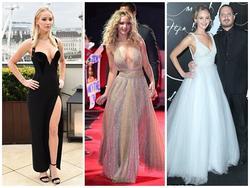 Những bộ váy khoe vòng 1 xập xệ 'đốt mắt' người nhìn của Jennifer Lawrence