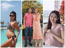 4 mẹ bầu mới của showbiz Việt 2018: người nhẹ nhàng đơn giản, người vòng 2 vượt mặt mà vẫn sexy