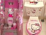 Ảnh hot nhất ngày: WC được trang trí từ A đến Z bằng hình tượng mèo Hello Kitty