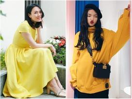 Hòa cùng tín đồ thời trang thế giới, Mỹ Tâm, Kỳ Duyên mải mê diện sắc vàng đầu năm 2018