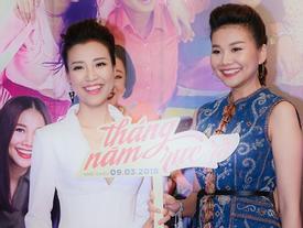 Thanh Hằng và Hoàng Oanh khoe nhan sắc đỉnh cao trên thảm đỏ 'Tháng năm rực rỡ'