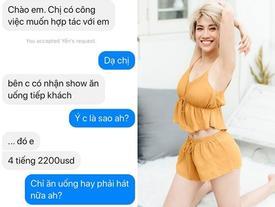 Ca sĩ Pha Lê bị gạ 'đi khách' 4 tiếng với giá khoảng 45 triệu