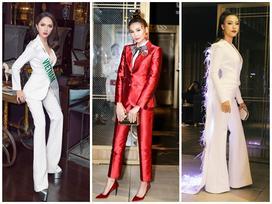 Cùng lựa chọn suit cá tính, Thanh Hằng - Hương Giang Idol đứng đầu top sao mặc đẹp tuần qua