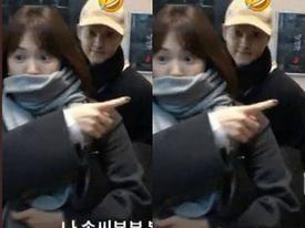 Song Hye Kyo bịt kín mặt cùng ông xã Song Joong Ki đi xem nhạc kịch