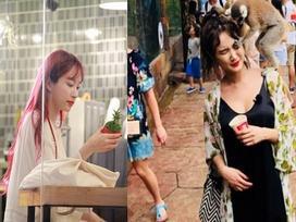 Dispatch đăng khoảnh khắc 'dở khóc dở cười' của LE (EXID): Bị khỉ 'tấn công' tại Phú Quốc