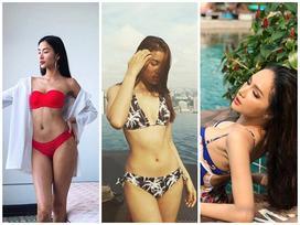 Đầu năm, đồng loạt mỹ nhân Việt 'đãi mắt' khán giả bằng bikini nóng bỏng
