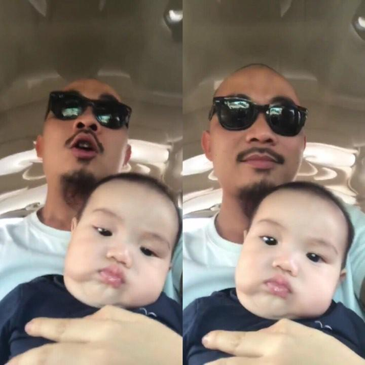 Hài hước clip ông bố trẻ chế nhạc dỗ con trai nhưng cậu bé quyết giữ gương mặt lạnh như tiền-1