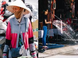 Sài Gòn dưới cái nắng đỉnh điểm 37 độ C: Người dân trùm kín mít ra đường, phun nước thường xuyên để giảm nhiệt