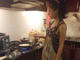 Bị kêu 'rửa rau như giặt đồ', Tân Hoa hậu Chuyển giới Hương Giang vẫn không ngừng vào bếp