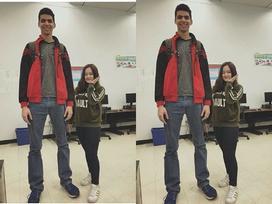 Đôi bạn thân với chiều cao lệch nhau 83cm gây bão mạng