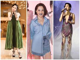 Bảo Anh đánh môi xanh lét - Angela Phương Trinh diện váy 'mẹ bầu' đứng đầu danh sách sao xấu tuần qua