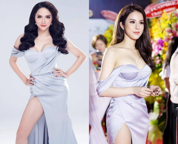 Hoa hậu Hương Giang 'lấn lướt' loạt mỹ nhân Vbiz khi đụng váy áo, không phải dạng vừa đâu!-3