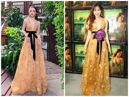 Trùng tên nhau và cùng mặc chung váy, Hương Giang Idol thần thái xuất sắc hơn hẳn Lưu Hương Giang