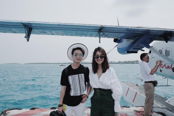 Kỳ nghỉ ở Maldives nắng ấm của đôi bạn thân Quỳnh Chi và Thuỳ Dung-3