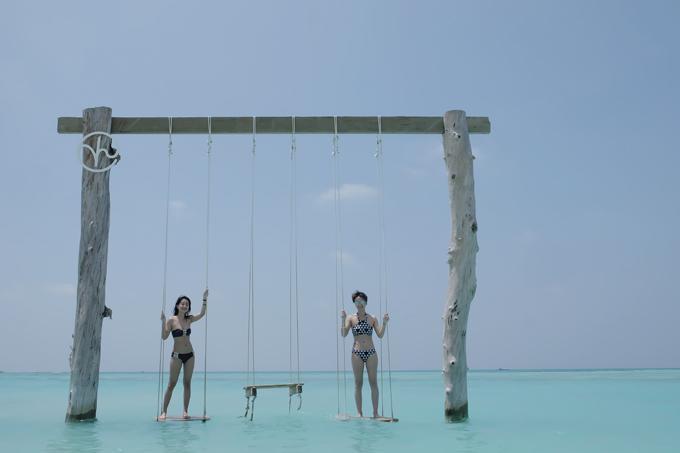 Kỳ nghỉ ở Maldives nắng ấm của đôi bạn thân Quỳnh Chi và Thuỳ Dung-7