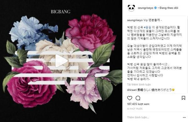 Nghẹn ngào đọc lời nhắn của Seungri gửi fan BigBang trong ngày ra mắt ca khúc mới-2
