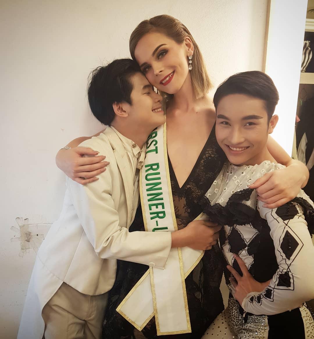 Á hậu Chuyển giới 2018 mặc đi mặc lại một chiếc váy liên tiếp trong 3 sự kiện khiến fan xót xa-9