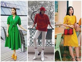 Street style đầu hè ngập tràn sắc màu rực rỡ của dàn mỹ nhân Việt