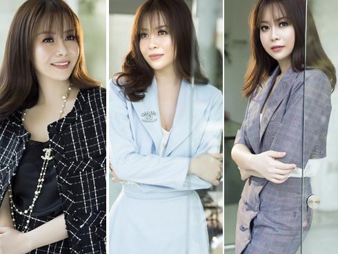 Hoa hậu Hải Dương trẻ trung trong set đồ công sở